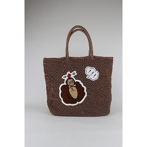 LUDLOW(Women)/ラドロー  Cord bag with animal motif(M size) COCOA【三越伊勢丹/公式】 バッグ~~トートバッグ~~レディース トートバッグ