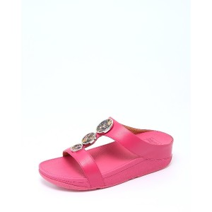 fitflop HALO FLOWERCRUSH SLIDE○R05666 Psychedelic pink コンフォート