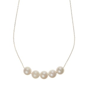 PREMIUM JEWELRY SELECTION アコヤパール657mm 5粒ネックレス○TOC4800YG K18yg ジュエリー・アクセサリー
