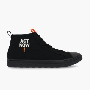 【ECOALF】 ACT NOW! ハイカットスニーカー / ACT NOW! HIGH-CUT SNEAKERS WOMAN 黒