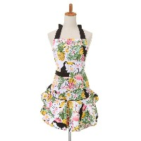 KAHRI HOME Mary Jean apron○KHMA25TRP Tropical mix キッチン/バスリネン