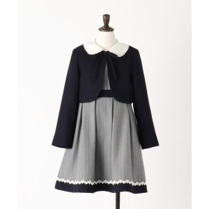 【THE SHOP TK(Kids)(ザ ショップ ティーケー(キッズ))】 【卒園式/入学式/発表会/結婚式】ボレロ&ストライプブラウス&ワンピースセット OUTLET > THE SHOP TK...