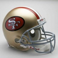 お取り寄せ NFL 49ers ヘルメット 64-95 リデル/Riddell Throwback Authentic On-Field Helmet