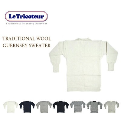 LE TRICOTEUR(ル・トリコチュール)/WOOL GUERNSEY SWEATER(ウール・ガンジーセーター)/KNITTED IN GUERNSEY ISLAND U.K.