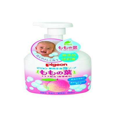 Pigeon Medicated Lotion Pump (Leaves of Peach) 450ml (Quasi-drug) (0 Months To) (Japan)