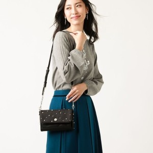 【TO BE CHIC】 パールウォレットポシェット ブラック