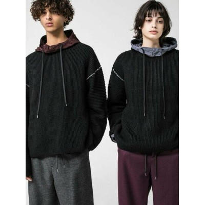 【SALE/50%OFF】BEAUTY & YOUTH UNITED ARROWS  monkey time  PE AZE CROPPED LINKING CREW NECK/ニット...