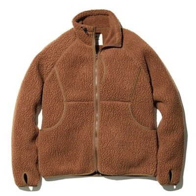スノーピーク(snow peak) Thermal Boa Fleece Jacket L Brown SW-20AU00504BR