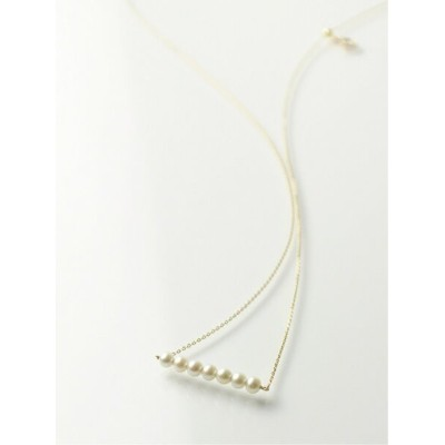 anq. 【anq.】K10・Pearl line ネックレス クークロワッサン アクセサリー ネックレス【送料無料】