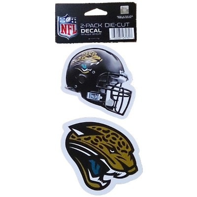 NFL ダイカットステッカー2種セット ジャガーズ(A) Jacksonville Jaguars Set of 2 Die Cut Decals (A)