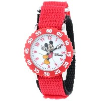 ディズニー 腕時計 キッズ 時計 子供用 ミッキー Disney Kids' W000235 Mickey Mouse Stainless Steel Time Teacher Watch with...