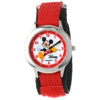 ディズニー 腕時計 キッズ 時計 子供用 ミッキー Disney Kids' W000012 Mickey Mouse Stainless Steel Time Teacher Watch