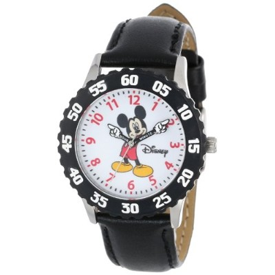 ディズニー 腕時計 キッズ 時計 子供用 ミッキー Disney Kids' W000231 Mickey Mouse Stainless Steel Time Teacher Watch with...
