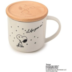 【one'sterrace(ワンズテラス)】 SNOOPY コースター付マグ キャラクター > キャラクターグッズ ホワイト