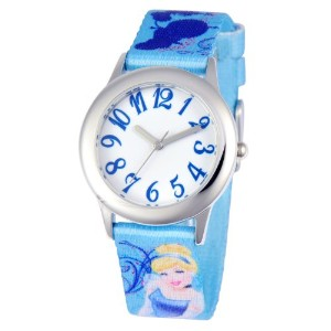 ディズニー 腕時計 キッズ 時計 子供用 シンデレラ Disney Kids' W000416 Tween Cinderella Stainless Steel Printed Strap Watch