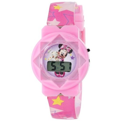 ディズニー 腕時計 キッズ 時計 子供用 ミニー Disney Minnie Mouse Kid's MINKD421 LCD Girls Stars Pink Band Watch