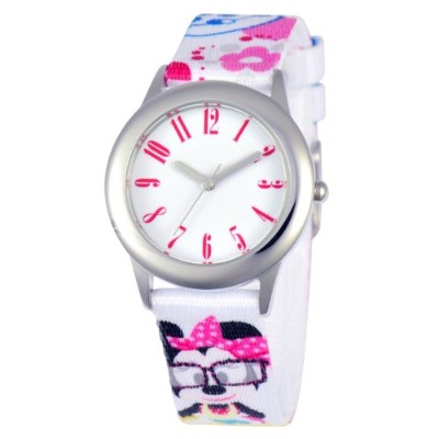 ディズニー 腕時計 キッズ 時計 子供用 ミニー Disney Kids' W000413 Disney Tween Minnie Mouse Stainless Steel Printed...