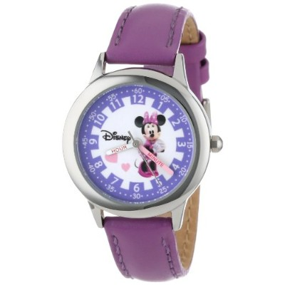 "ディズニー 腕時計 キッズ 時計 子供用 ミニー Disney Kids' W000039 ""Minnie Mouse Time Teacher"" Stainless Steel Watch..."