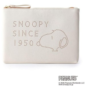 【one'sterrace(ワンズテラス)】 SNOOPY フラットポーチ パンチ OUTLET > one'sterrace > キャラクター > キャラクターグッズ アイボリー