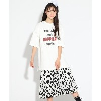 【PINK-latte(ピンク ラテ)】 ★ニコラ掲載★Tシャツ+アコーディオンプリーツスカートセット OUTLET > PINK-latte > ワンピース > セットアップ オフホワイト