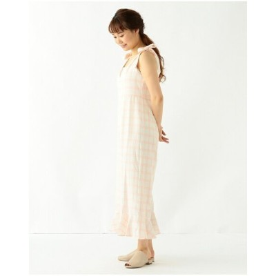 【SALE/66%OFF】Ray BEAMS sister jane / Lily Check Jumpsuit ビームス アウトレット ワンピース オールインワン ピンク【送料無料】