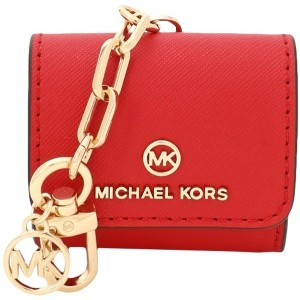レディース MICHAEL MICHAEL KORS CLIPCASE FOR AIRPODS ポーチ レッド