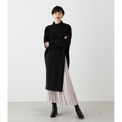 PLEATS LAYER KNIT ONEPIECE/アズールバイマウジー