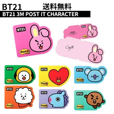 【CHARACTER】BT21 3M POST IT CHARACTER 【全国送料無料】韓流グッズ 韓国 K-POP BTS 防弾少年団 公式グッズ 韓国 TATA CHIMMY COOKY RJ...