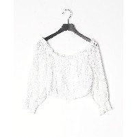 GUESS LS ODETTE TOP○W0GH96WCUZ0 ホワイト トップス