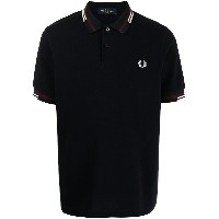 FRED PERRY ロゴ ポロシャツ - ブルー