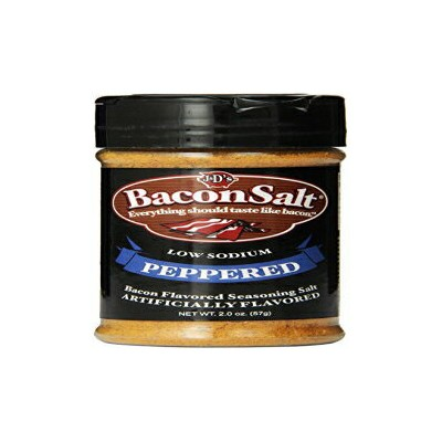 J&Dのベーコンソルト、ペッパー、2オンス J & D Foods J&D's Bacon Salt, Peppered, 2 Ounce