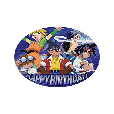 Happy Choices 7.5 Inch Edible Cake Toppers – Beyblade 2 New Themed Birthday Party Collection of...