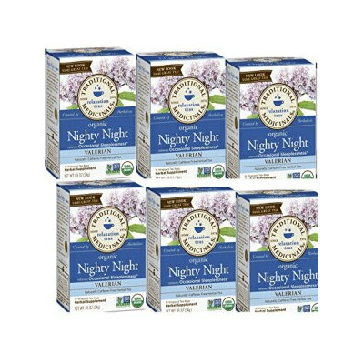 Traditional Medicinals. Traditional Medicinals Nighty Night Valerian(Pack - 6)