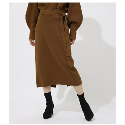 【SALE/50%OFF】AZUL by moussy SWEATTER BELT TIGHT SKIRT アズールバイマウジー スカート スカートその他 イエロー グレー