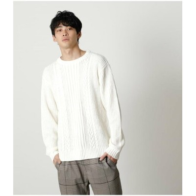 【SALE/70%OFF】AZUL by moussy CABLE KNITTING PULLOVER アズールバイマウジー ニット ニットその他 ホワイト ブラック