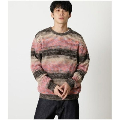 【SALE/50%OFF】AZUL by moussy MULTICOLOR WAFFLE KNIT アズールバイマウジー ニット ニットその他 ピンク ブルー