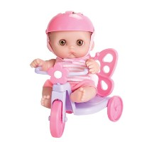 JC Toys 赤ちゃん 新生児 人形 フィギュア ドール Lil' Cutesies Doll with Butterfly Tricycle