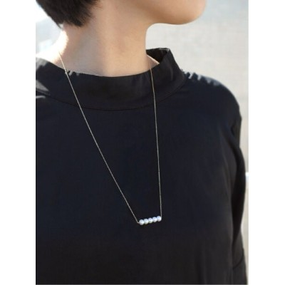 anq. 【anq.】K10・Pearl Line ネックレス 淡水パール クークロワッサン アクセサリー ネックレス【送料無料】