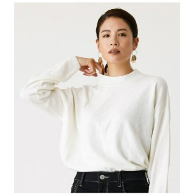 【SALE/33%OFF】AZUL by moussy NUDIE H/N KNIT TOPS アズールバイマウジー ニット ニットその他 ホワイト ブラック レッド