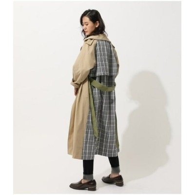【SALE/40%OFF】AZUL by moussy MIX FABRIC TRENCH COAT アズールバイマウジー コート/ジャケット コート/ジャケットその他 ベージュ カーキ【送料無料】