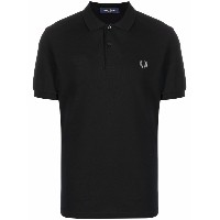 FRED PERRY ロゴ ポロシャツ - ブラック