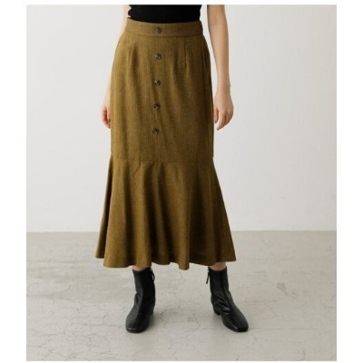 【SALE/70%OFF】AZUL by moussy TWEED MARMAID SKIRT アズールバイマウジー スカート スカートその他 イエロー グレー