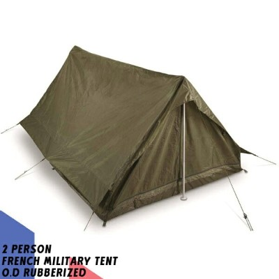 GI 2人用 テント 2 PERSON FRENCH MILITARY TENT O.D RUBBERIZED CA-570-OD Olive Drab フランス軍 仏軍 陸軍 ミリタリー...