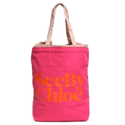 SEE BY CHLOE シーバイクロエ GIMMICK BAG トートバッグ エコバッグ 9S7116 P73 A28 INDIAN PINK