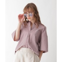 【AG by aquagirl(エージー バイ アクアガール)】 イリデンスシアーシャツ OUTLET > AG by aquagirl > トップス > シャツ・ブラウス ピンク