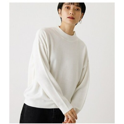 【SALE/50%OFF】AZUL by moussy NUDIE H/N KNIT TOPS アズールバイマウジー ニット ニットその他 ホワイト ブラック パープル