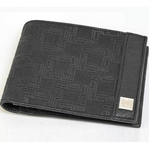 Dunhill/ダンヒル PVC Leather Bifold wallet with Coin Case Black PVC レザー バィフォールド 小銭入れ コインケース メンズ #SI490...