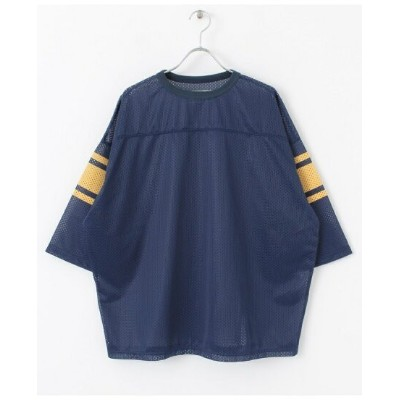 【SALE/40%OFF】URBAN RESEARCH 【別注】VOTE MAKE NEW CLOTHES*URiD BIG MESH TEE アーバンリサーチ カットソー Tシャツ ネイビー...