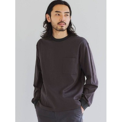 【SALE/30%OFF】UNITED ARROWS green label relaxing SC リップストップ クルーネック 長袖 カットソー ユナイテッドアローズ アウトレット カットソー...