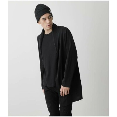 AZUL by moussy DOUBLE FACE LONG TOPPER アズールバイマウジー ニット カーディガン ブラック【送料無料】